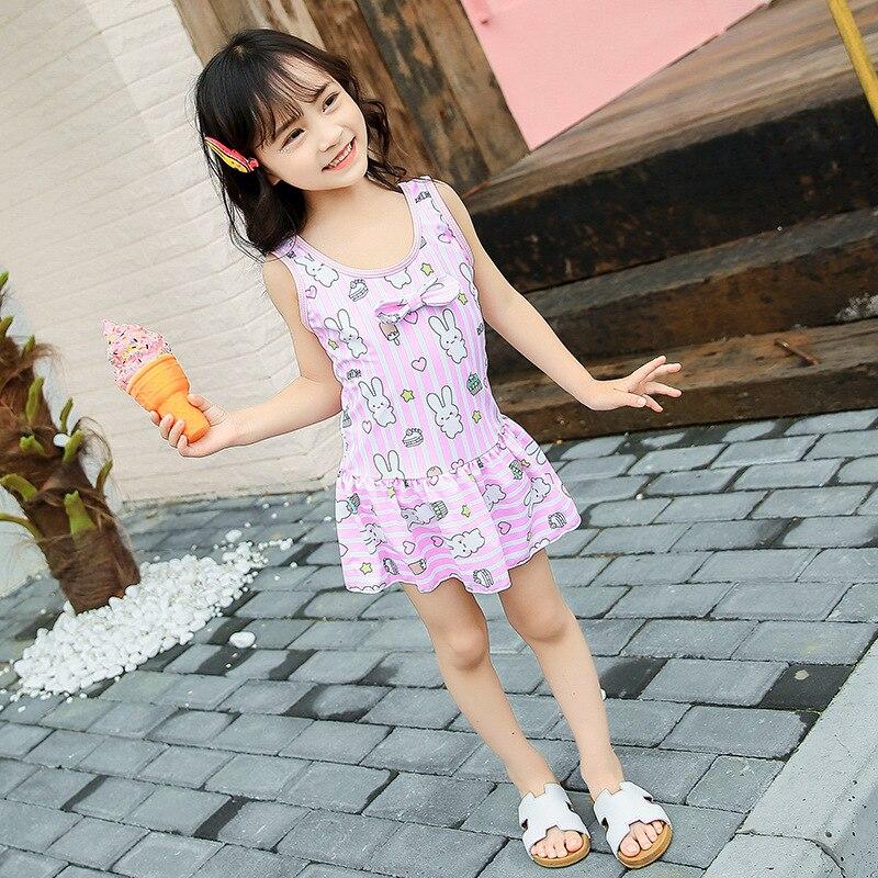 KID'S Swimwear Korean-style Cute Dress-Medium-small GIRL'S Girls With Swim Cap Set Tour Bathing Suit