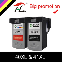 HTL PG 40 CL 41 ink cartridge for Compatible Canon 40XL 41XL for PIXMA iP2500 iP2600 iP1600 MX300 MX310 MP160 MP140 MP450 MP170