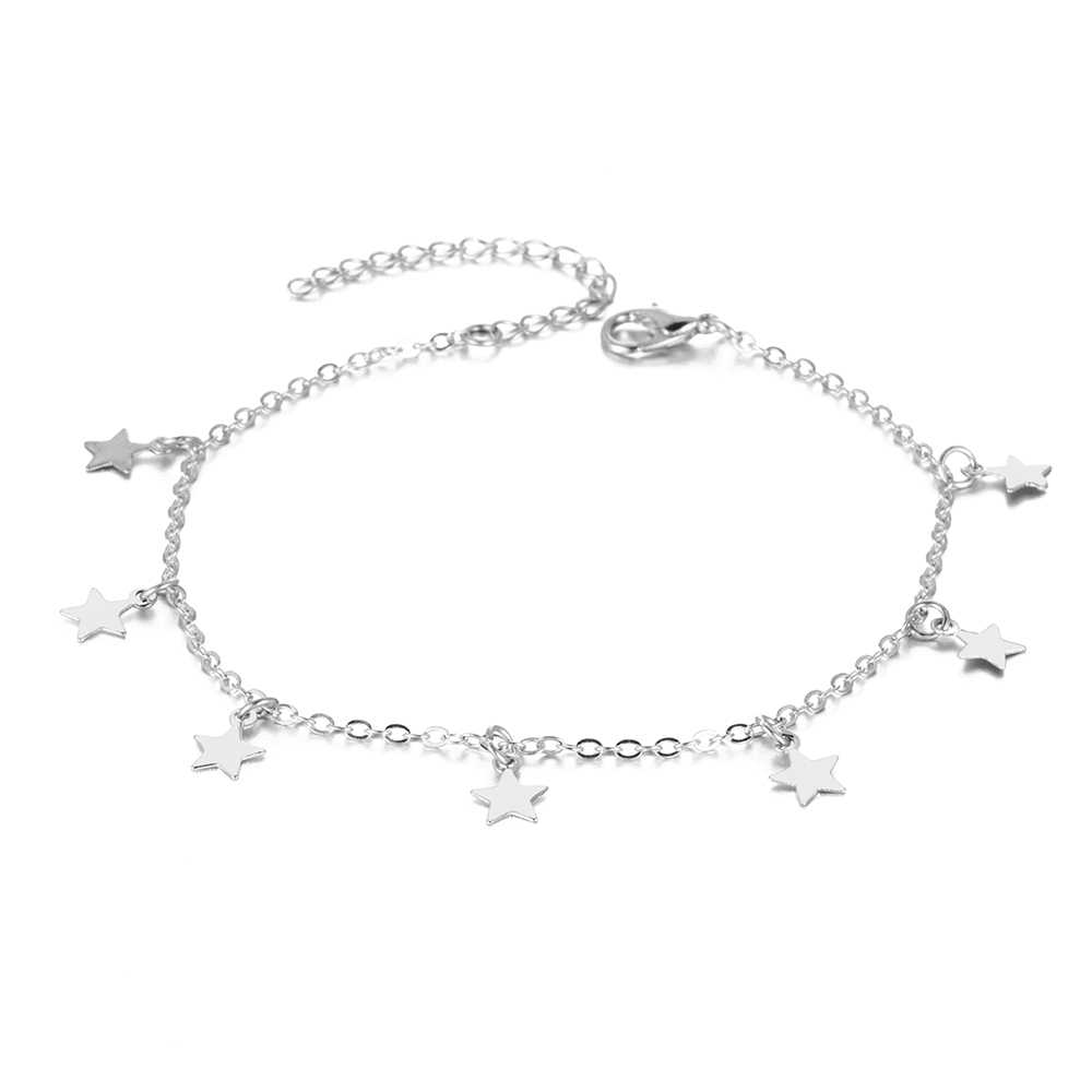 Bracelets de cheville EN bohème étoile perle gland mode multicouche jambe pied chaîne sandales Bracelet de cheville pour les femmes bijoux de plage d'été
