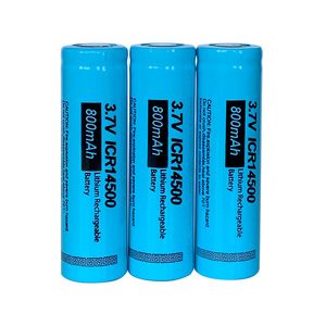 Image 3 - 10PCS New PKCELL ICR 14500 Li ion AA Rechargeable Battery 800mAh 3.7V 14500 lithium batteries Flat Top For Flashlight