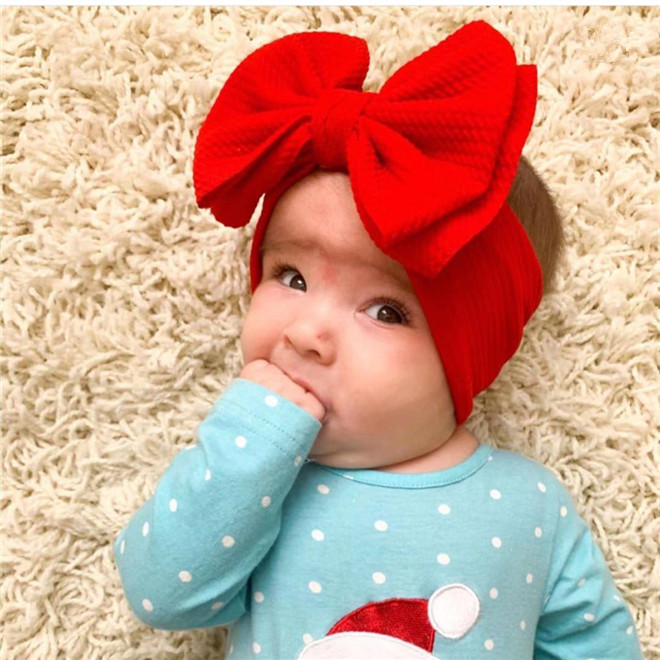 Baby Headbands For Girls Elastic Bullet Fabric Baby Headband Bow Accessories Bandeau Bebe Fille