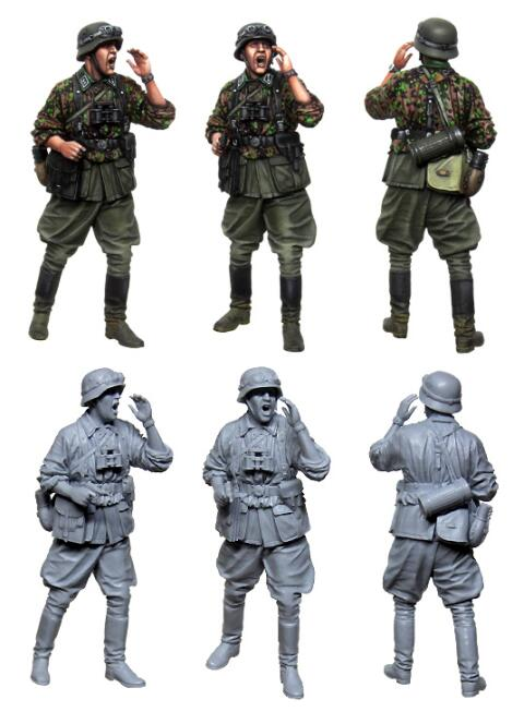 <font><b>1</b></font>/<font><b>35</b></font> <font><b>Resin</b></font> Figures S <font><b>German</b></font> Officer 1pc <font><b>Model</b></font> Kits image