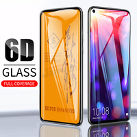 Funda de vidrio templado 6D para Huawei, Protector de pantalla de pegamento completo para Huawei P40 Lite P30 Honor 20 Pro View 20 8X Nova 5T 3 3i Mate 20 P20 Pro
