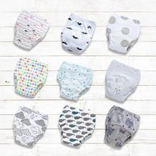 Bawełniana poduszka dla niemowląt zmywalne majtki do nauki korzystania z nocnika pieluchy z tkaniny dziecko dziecko noworodek bawełna wielokrotnego użytku jednorazowa bielizna
