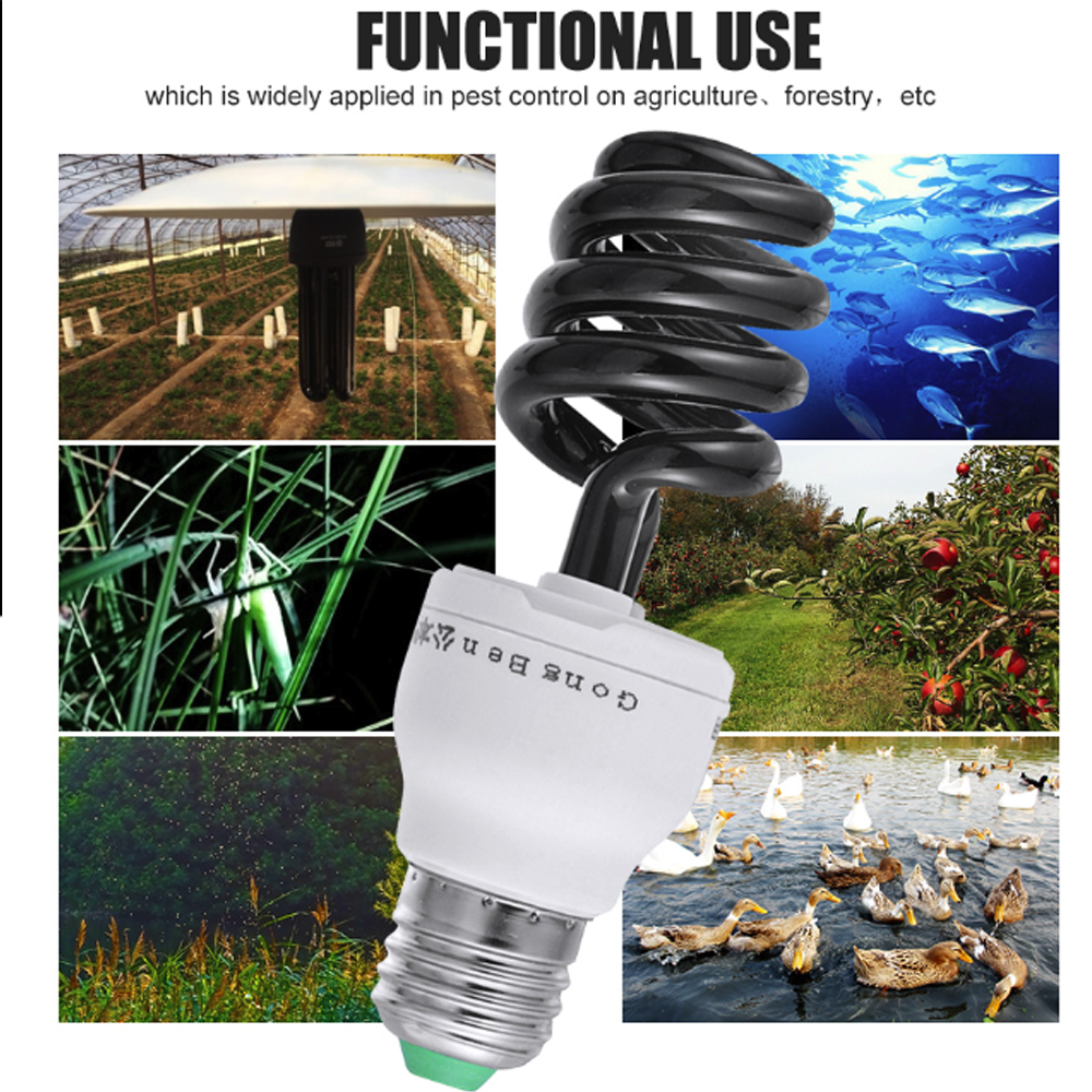 Fluorescent UV Ultraviolet UV Lighting Light Bulb 40W E27 Lamp Bright Blacklight Screw AC220V Energy Saving Torch