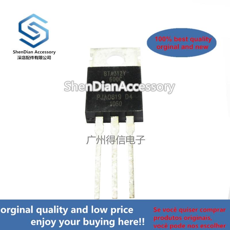 10pcs 100% Orginal New BTA312-600C 312 TO-220 3Q Hi-Com Triac Real Photo
