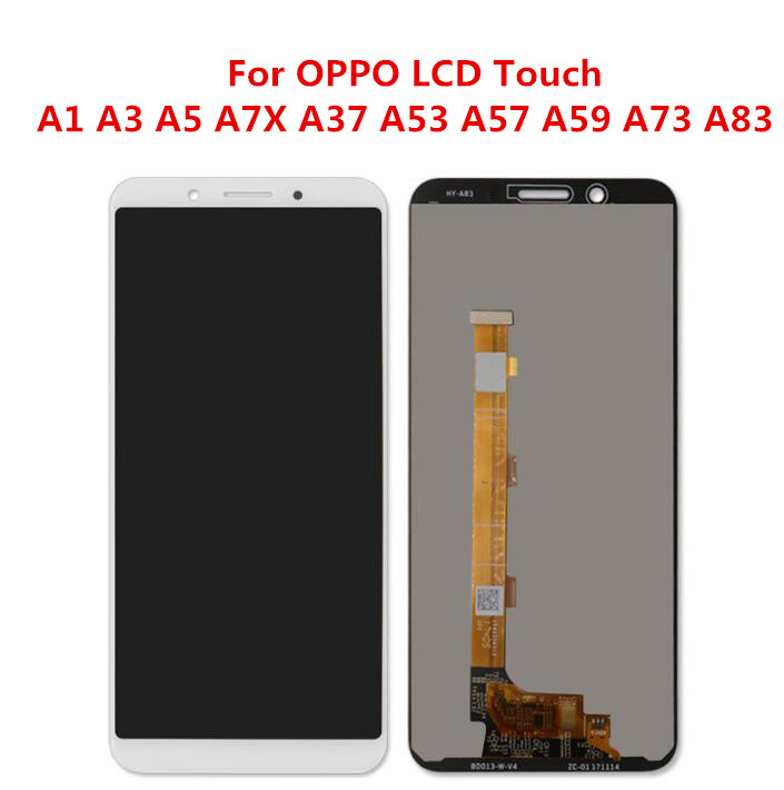 For <font><b>OPPO</b></font> A1 A3 F7 A3S A5 A7X F9 A37 <font><b>A57</b></font> A83 Full LCD <font><b>DIsplay</b></font> With Touch Screen Digitizer Assembly LCD Replacement image