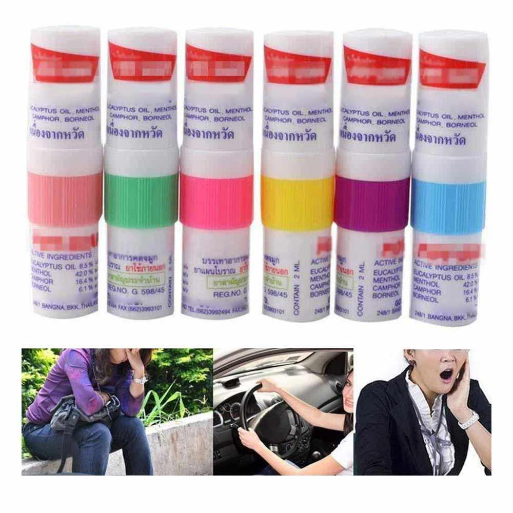 Dropshipping 2pc Thailand Nasal Inhaler Poy Sian Mark 2 Herbal Inhaler Poy Sian Stick Mint Cylinder Oil Branching Asthma Breezy