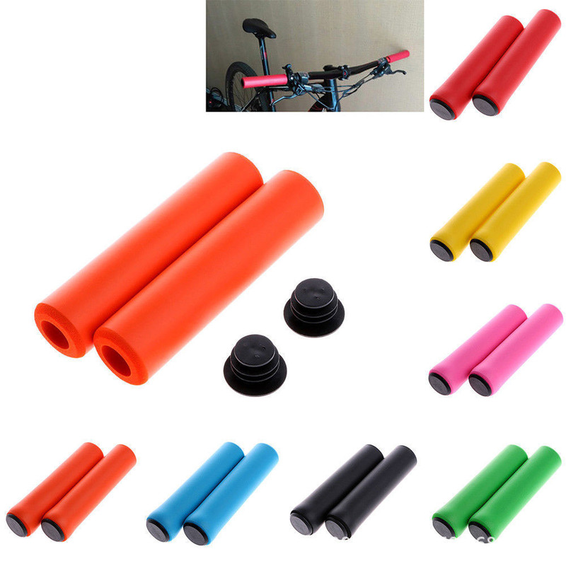 Solid Silicone Handle Bar Grips Handlebar Cover UltraLight Soft For Bike Bicycle