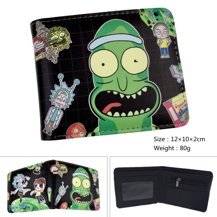 NEW OFFICIAL RICK /& MORTY PICKLE RICK GREEN ID /& CARD BI-FOLD WALLET