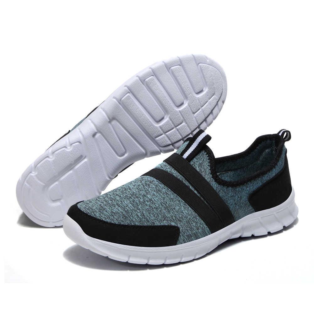 Heidsy Hafif Nefes Kadınlar Flats Ayakkabı Elastik kumaş Kadın Flats rahat ayakkabılar Kayma Yumuşak Alt Bayanlar Düz loafer ayakkabılar