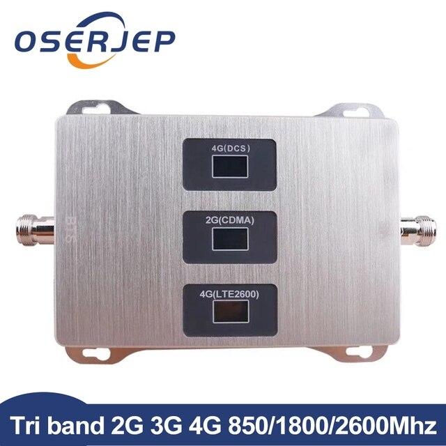 2 グラム 3 グラム 4 グラムトライバンド信号ブースター 850MHz 、 4 4G LTE 1800MHz 、 4 グラム + FDD LTE 2600 Mhz の Lte リピータアンプ含めないアンテナ