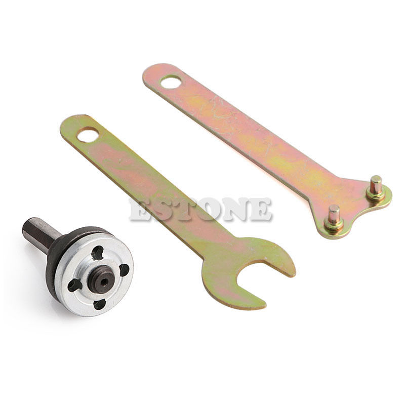 M10/16mm Hole Drill Angle Grinder Mandrel Adapter Disc Holder Spanner Kit Set Wholesale&DropShip