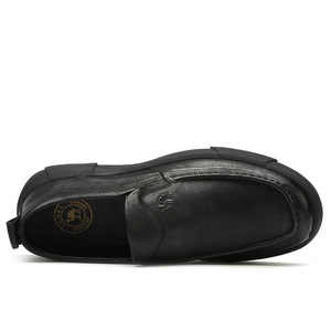 Image 3 - חדש עסקי נעליים יומיומיות קל משקל גברים של נעלי החלקה הלם קליטה נוח גברים לשפשף עור