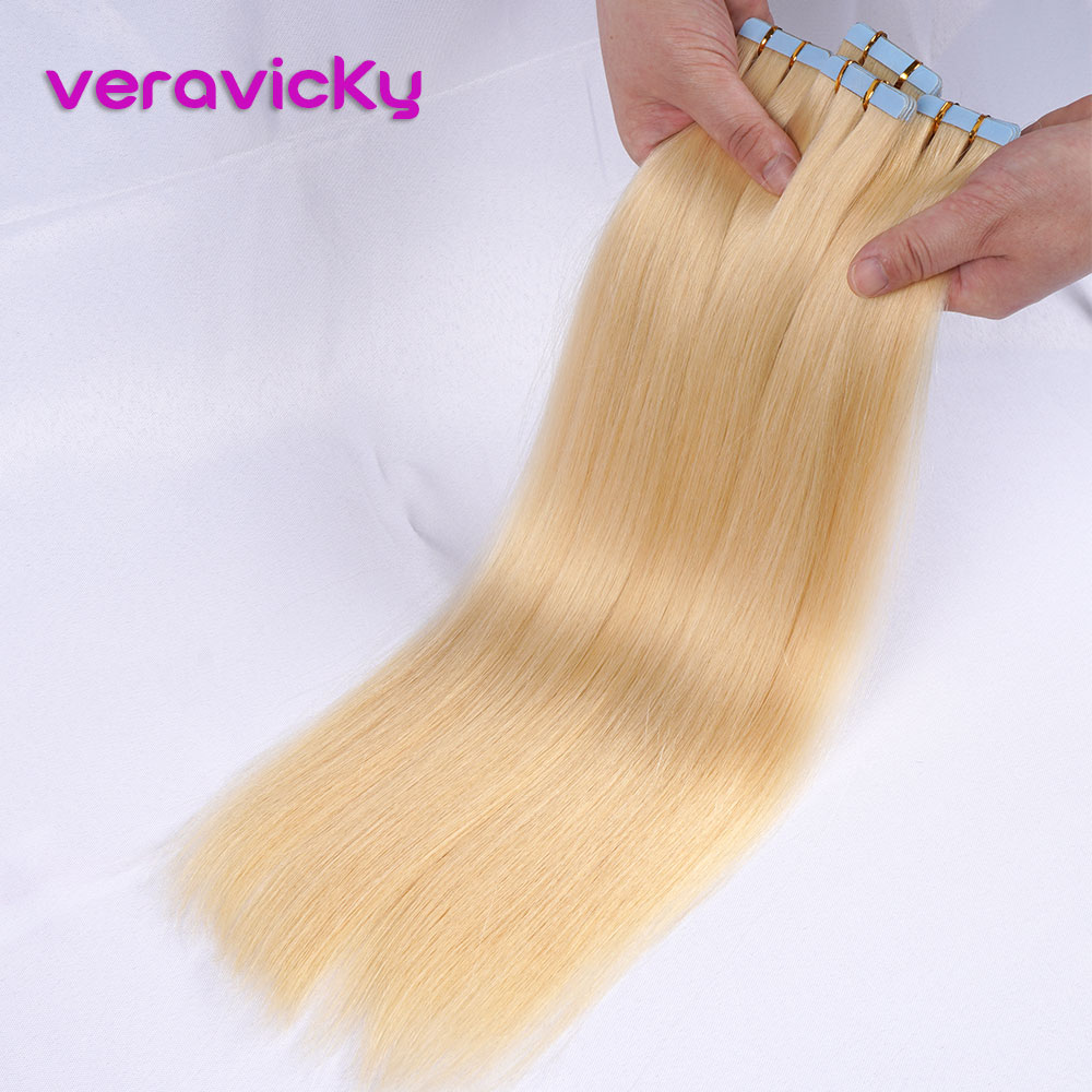 Skin Weft Tape In Human Hair Extensions Natural Real Hair On Adhesive Invisible Extensions Shine Brown To Blonde Tape Ins