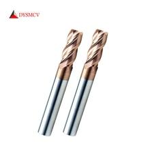 1pc rabat frez trzpieniowy 6mm długości 50mm HRC55 HRC65 4 flety narzędzia tnące z węglika wolframu CNC maching okrągły nos frezy