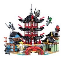 цена на 2017 Ninja Temple 737+pcs DIY Building Block Bricks Sets Educational Toys for Children Compatible with Ninjagoes