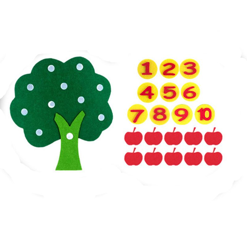 Montessori Education Supplies Apple Tree Toys Educational Toy Math Toy Durable Digital Cognitive Kindergarten