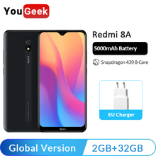 Global Version Xiaomi Redmi 8A 8 A 32GB ROM 2GB RAM Mobile Phone 5.45''Snapdragon 439 Octa Core 5000mAh 12MP Camera Smartphone