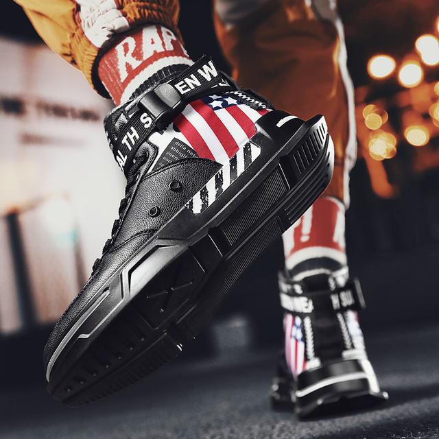 High Top Men Sneakers Hot Sale Men Jordan Shoes Casual for Adults Tenis Masculino Breathable Fashion Casual Men Vulcanzie Shoes 4