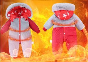 Image 5 - 2019 חדש חורף סרבלי הלבשה עליונה 4 צבע ילדים חורף מעיל עבור בנות חליפת שלג, למטה בני מעיל 1 4 שנים סרבל חם תינוק