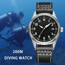 Japan NH35 Pilot Watch Fully Automatic Mechanical Diver