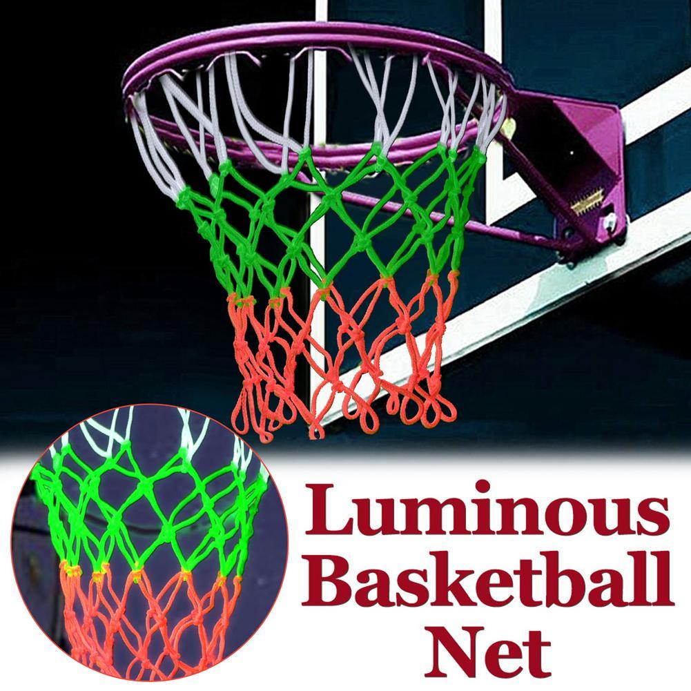 3X светящаяся светосветильник тренировочная светящаяся баскетбольная сетка, баскетбольная сетка, стандартная нейлоновая сетка для баскетб...