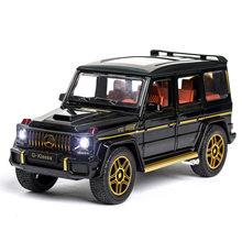 1:24 brinquedo modelo de carro de metal rodas simulação g65 liga carro diecast brinquedo veículo som luz puxar para trás carro brinquedos para crianças presente