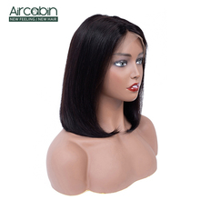 Aircabin 13x4 Lace Front Wig Brazilian Hair Bob Wig 8-14inch Non Remy Human Hair Wigs For Black Women Bob Lace Front Wig стоимость
