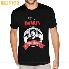 Tall Size Damon Salvatore The Vampire Diaries TV Show Shirt Men Simple Fashion Short Sleeve Round Neck Classic T-Shirt