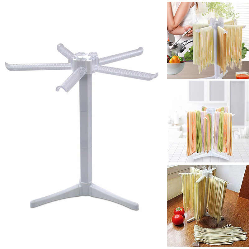 Noodle Drying Rack-Noodle Spaghetti Pasta Drying Rack Stand Dryer Foldable Kitchen Tool White