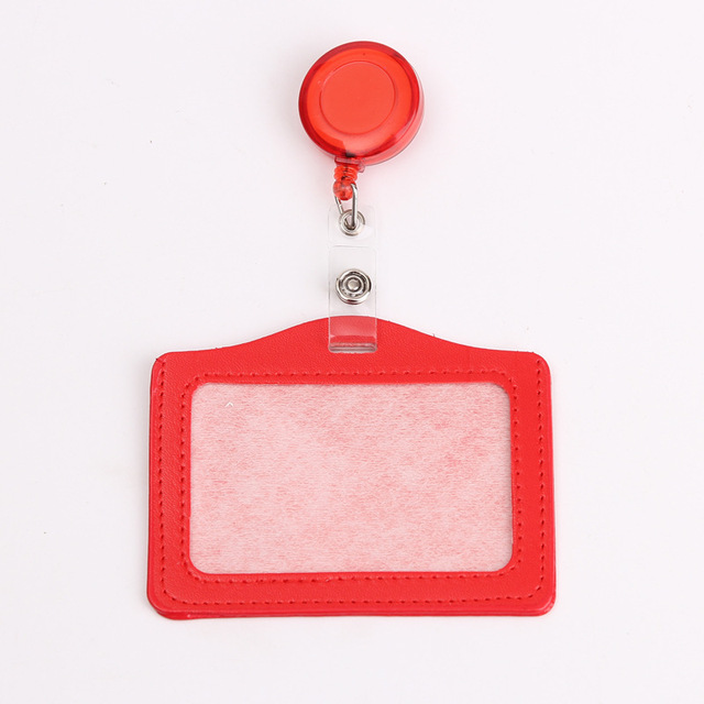 Credit Card Holders With Retractable Badge Reels Clip Name Badge Office School Supplies Identity Badge Protective Card Cover 6