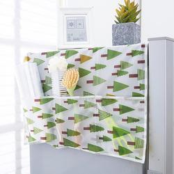 Горячая 54*129 см простой домашний водонепроницаемый пылезащитный чехол для холодильника с карманом для хранения стиральной машины Органайз...