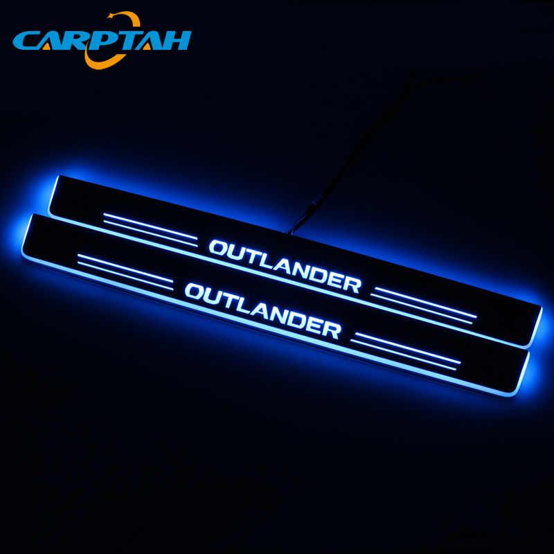 Trim Pedale Auto Parti Esterne LED Davanzale Del Portello Del Piatto Dello Scuff Pathway Streamer Dinamico della luce Per Mitsubishi Outlander 2 3 XL 2005-2018