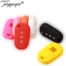 30 unids/lote 3 botones funda de goma de silicona para coche para Peugeot 3008 208 308 508 408 2008 Protector