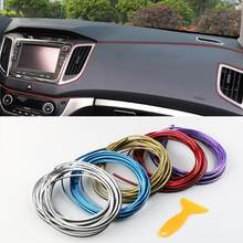 5 Meters Car Interior Lighting Auto LED Strip Garland EL Wire Rope Tube Line Flexible Neon Light Auto Decorative Lights(China)