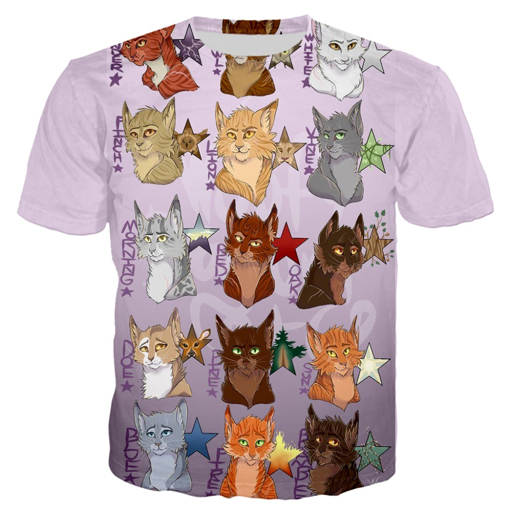 2020 3D Print Warrior Cat T Shirt For Women Men Hoodies/Sweatshirt Short Sleeve Casual Tshirt Dropshipping