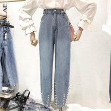 Casual Jeans Long-Trousers Woman Pants Streetwear Loose Female High-Waist Cowboy Autumn