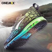 Onemix almofada de ar tênis de corrida para homens sapatos esportivos respirável treinador sapatos caminhada em vermelho para jogging sapatos ao ar livre