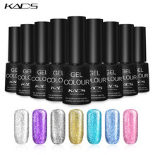 KADS 7ml Platinum Nail Gel Polish Glitter Gel Lacquer Nail Polish Soak Off Polish Nail Art Glue Top Base Coat Varnish Lacquer(China)
