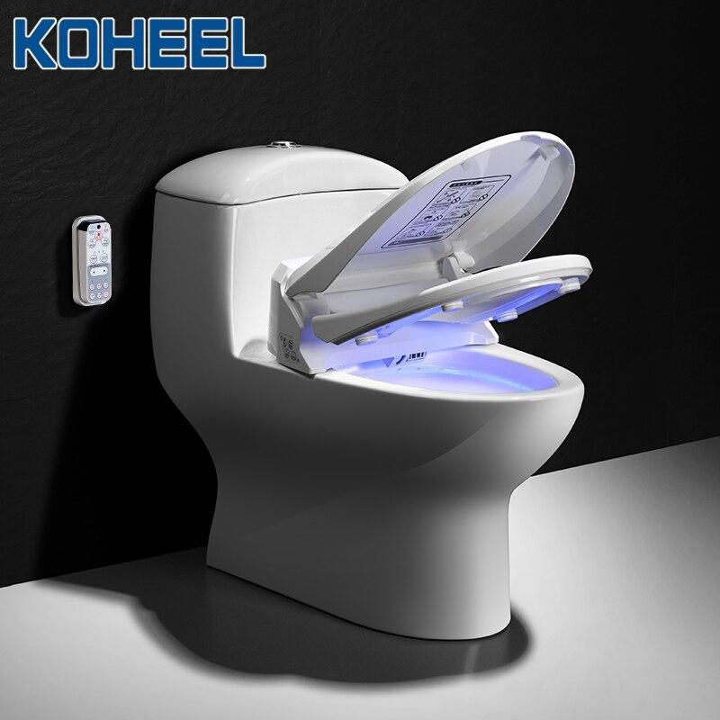 Assento do Toalete Limpo e Seco Koheel Inteligente Bidé Elétrico Cobertura Aquecido Massagem wc