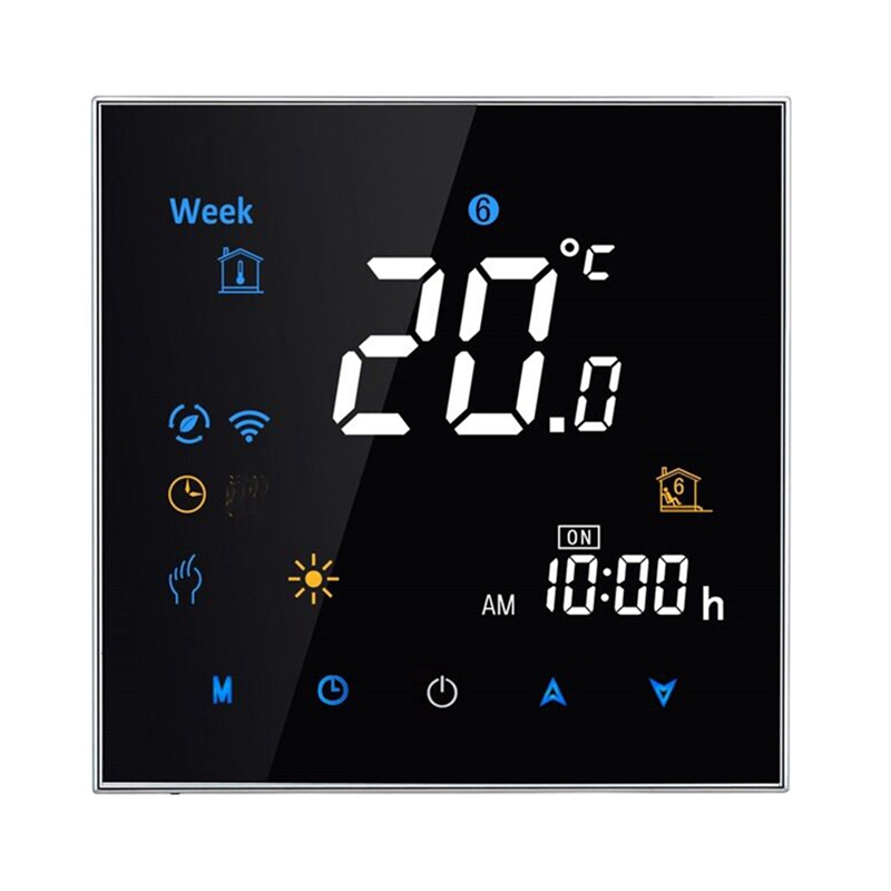 HHO-Electric Floor Heating Room Press Screen Thermostat Warm Floor Heating System Thermoregulator 220V Temperature Controller