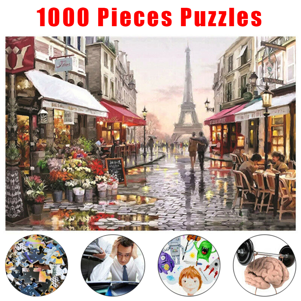 Jigsaw Puzzles 1000 Pieces Puzzle Game Wooden Assembling Puzzles For Adults Puzzle Toys Kids Children Educational Toys D30