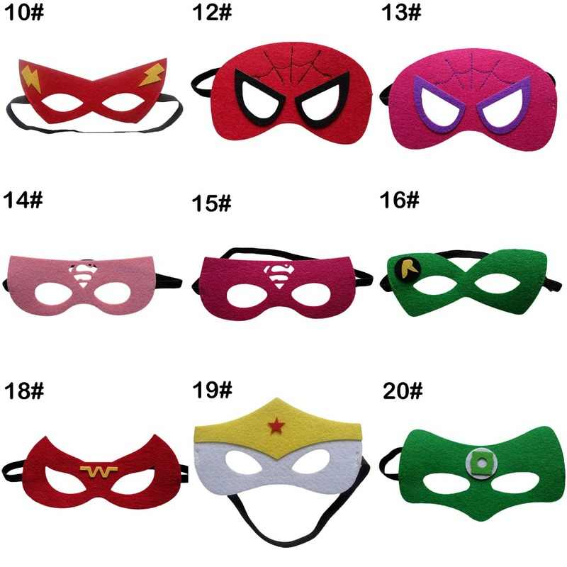 Superhero Mask Cosplay Superman Batman Spiderman Hulk Thor Ironman Putri Halloween Natal Anak-anak Dewasa Pesta Kostum Masker