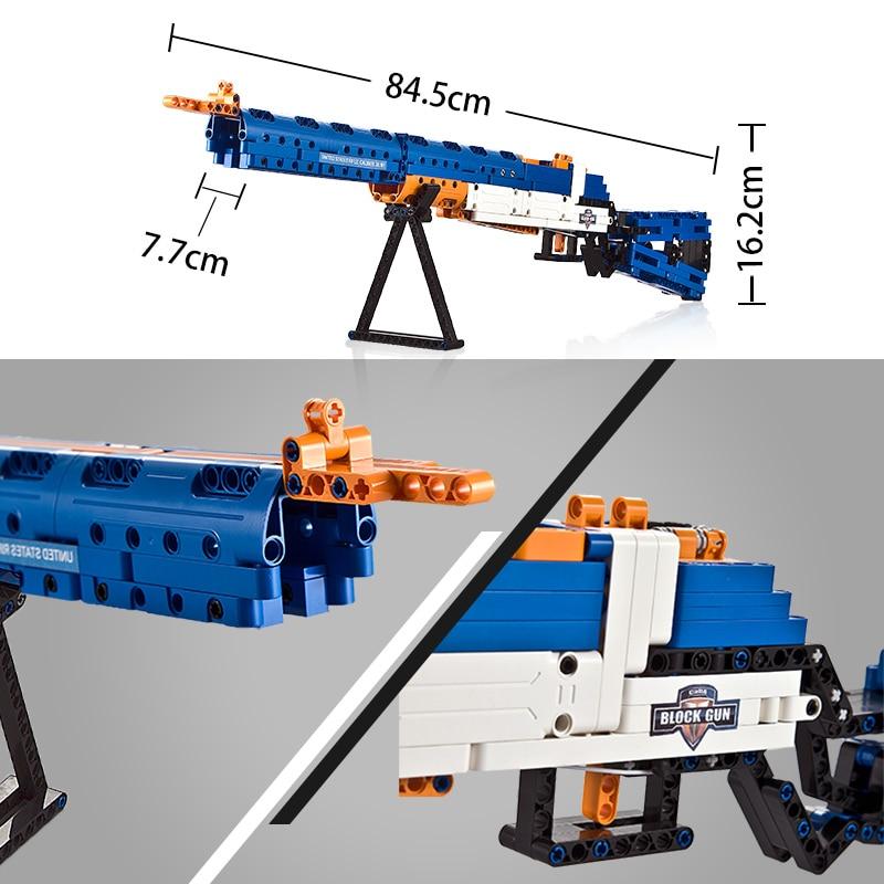 Cada C81002W Boys' DIY Block Rifle Toys
