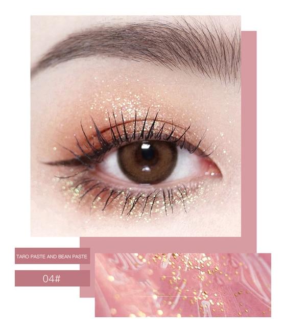 HOJO 4 Color Shimmer Eyeshadow Palette Comestic Glitter Pearlescent Long-lsting Waterproof Matte Eye Shadow Eye Makeup TSLM2 5