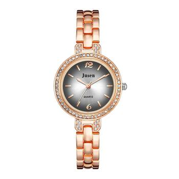 Rose Gold Qualities Women Bracelet Watches Full Stainless Steel Fashion Luxury Crystal Watch Ladies Quartz Wristwatches Gifts luxury ladies watch women brand quartz wristwatches stainless steel watches rose gold woman wrist watch gifts sale accessories