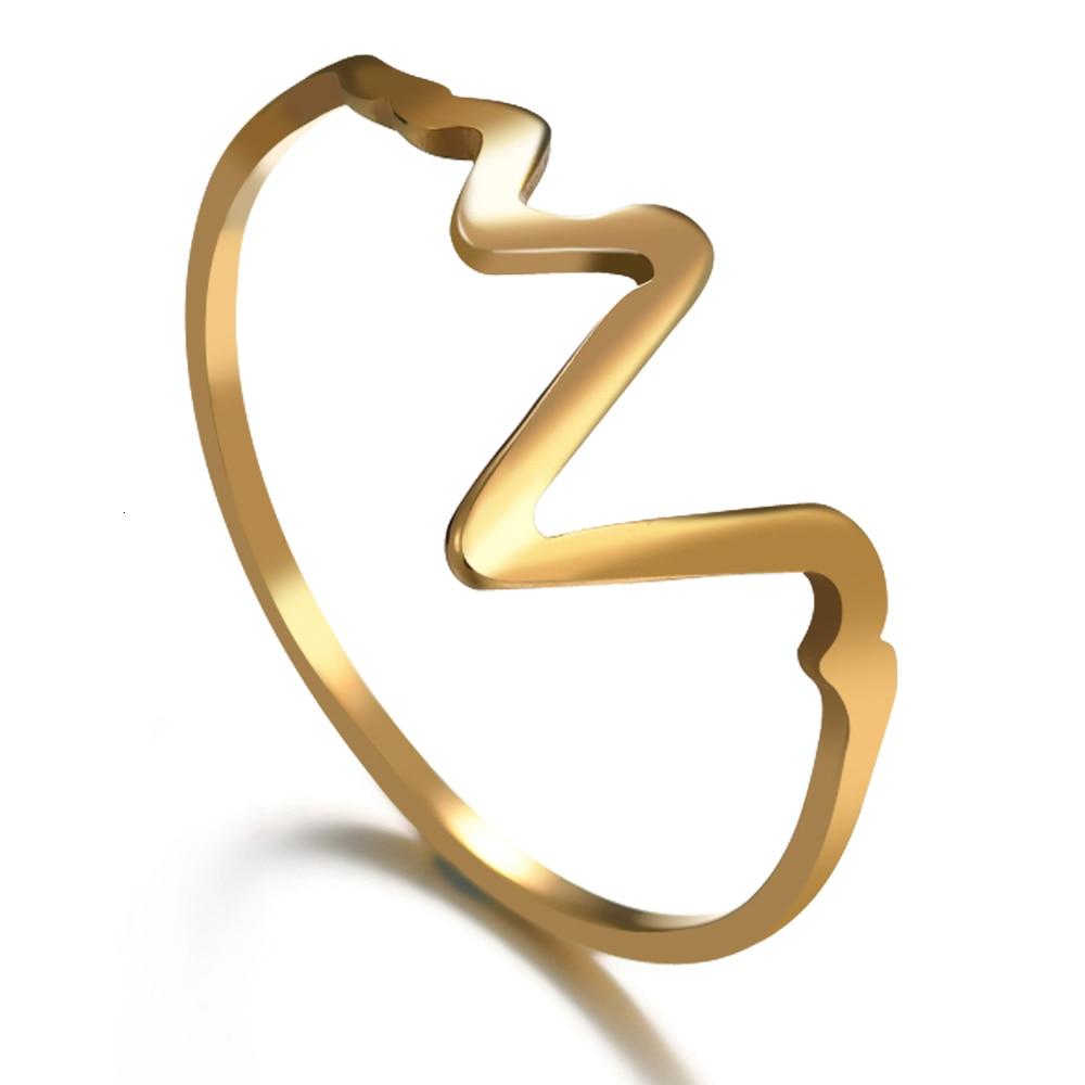 Trendy Rose Gold Žene od nehrđajućeg čelika, vjenčani prstenovi - Modni nakit - Foto 5