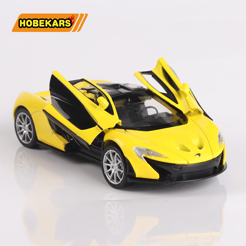 High Simulation 1:32 McLaren P1 Diecast Model Toy Classic Car Metal Alloy Pull Back Cars Toys For Kids Gifts For Children