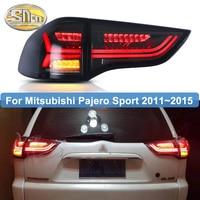 For Mitsubishi Pajero Sport 2011~2015 Montero Sport LED Rear Tail Light DRL+ Brake + Reverse +Turn Signal fog lamp Car styling